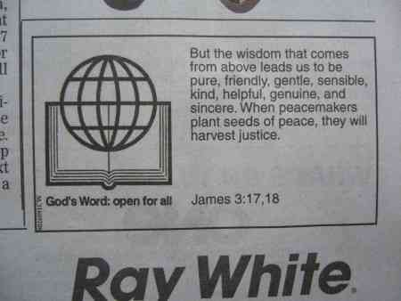 """""""God's Word: open for all"""""""