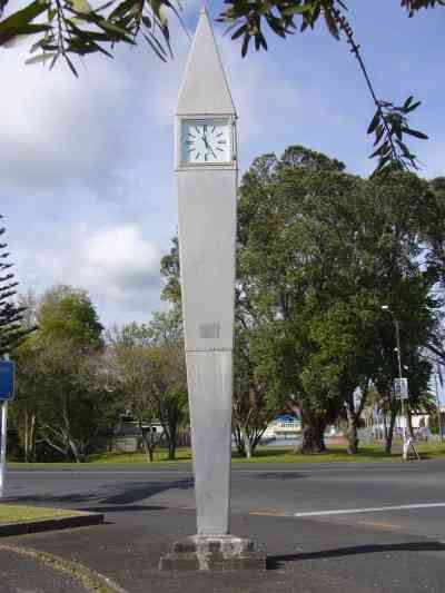 CLOCK TOWER IN KAITAIA