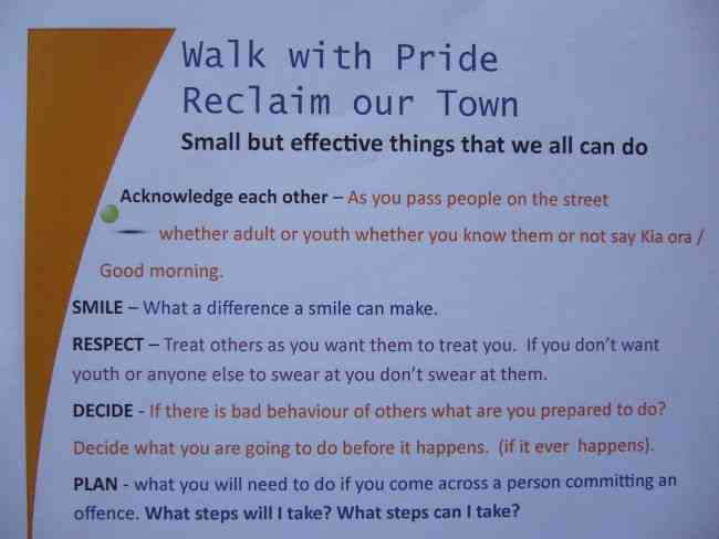 WALK WITH PRIDE RECLAIM OUR TOWN